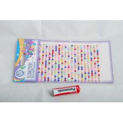 Teczowe perelki naklejki mix kolor.335118012