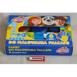 FARBY DO MALOWANIA PALCAMI 6K/40ML OTOCKI