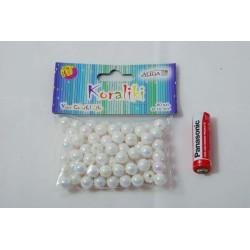 Koraliki plastikowe opalizujące perłowe PJ-0836 10mm op.80szt.
