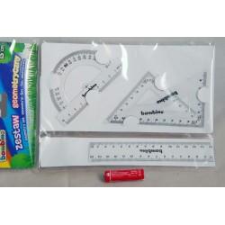 Zestaw geometryczny BAMBINO 4 elementowy 15 cm