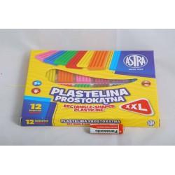 PLASTELINA 12K PROSTOKĄT astra 303117001