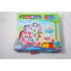 Gra zręcznościowa 2 w 1, łowienie rybek+ młotek, zabawka na baterie, r