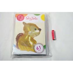 Balon foliowy leśne zwierzątka - wiewiórka