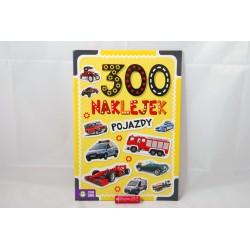 300 naklejek. Pojazdy 9788381549134