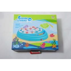 Gra zręcznościowa, łowienie rybek, zabawka na baterie, rozmiar 21 x 5