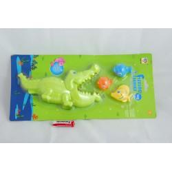 Zestaw Mały Wędkarz: łapacz krokodyl, rybki x3