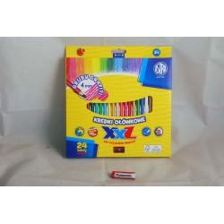 Kredki ołówkowe hexagonalne Astra 24 kolory lid 4mm